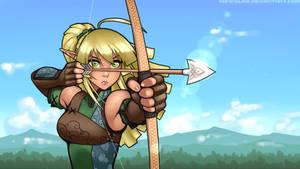 Elven Archer - Take Aim by RoninDude