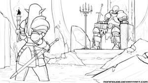 Drowned Throneroom - SKETCH