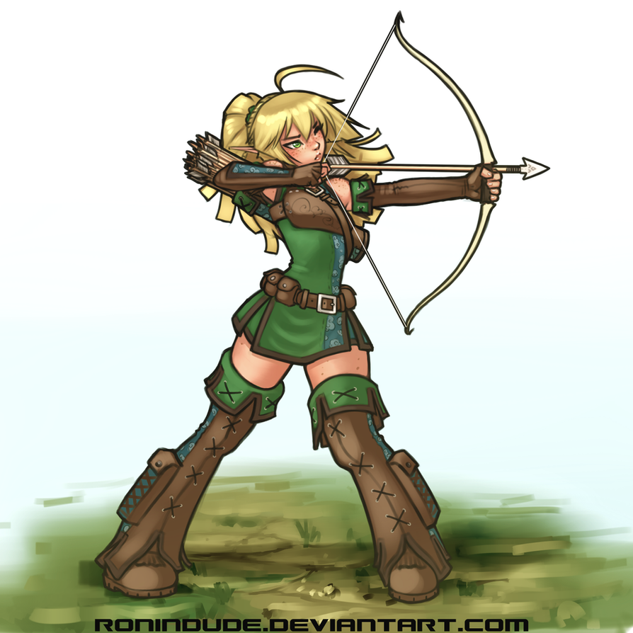 Silly Quickie - Elven Archer by RoninDude