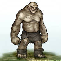 Monster Sketch - Mountain Troll by RoninDude