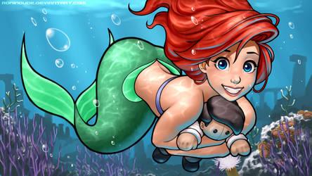 Commission - Plushy Snuggle - The Little Mermaid by RoninDude