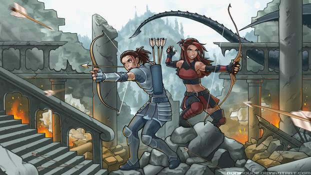 Commission - Archer Battle