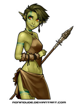 Daily Drawing 5-5-2016 Half-Orc Girl
