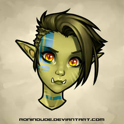 Daily Drawing 5-6-2016 Half Orc Portrait