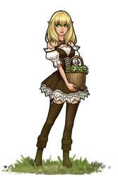 Flower Basket Elf by RoninDude