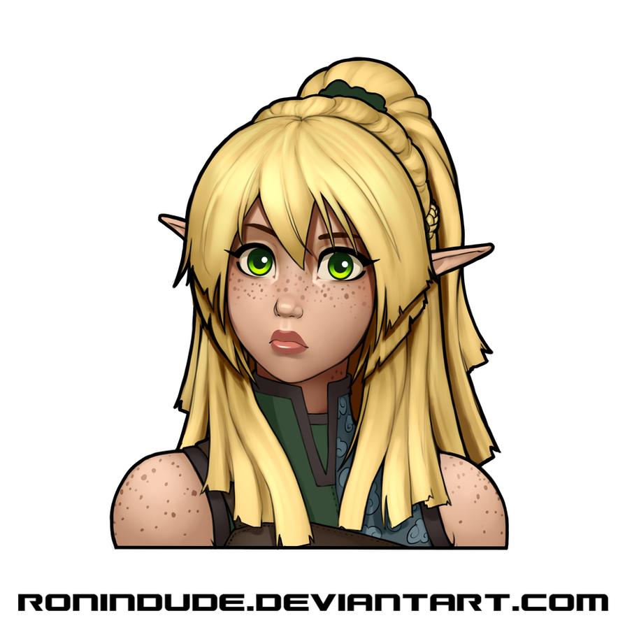 Elven Archer - Hair Update - Front by RoninDude