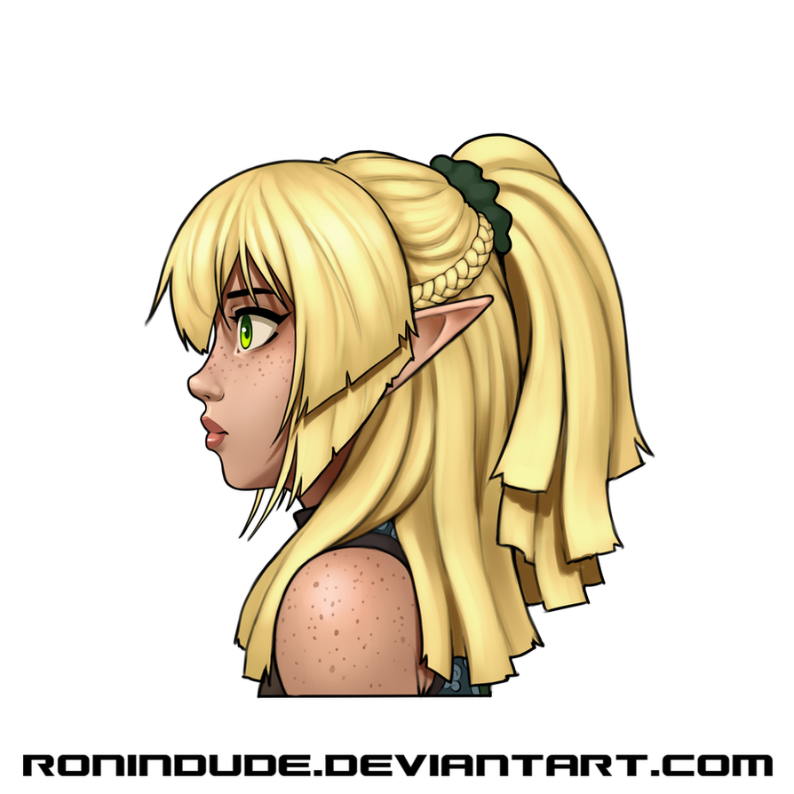 Elven Archer - Hair Update - Side by RoninDude