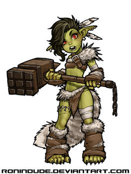 Evening Drawing - Goblin Barbarian