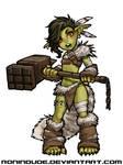Evening Drawing - Goblin Barbarian