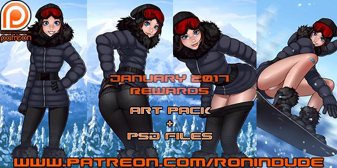 Patreon January 2017 Art Pack! by RoninDude