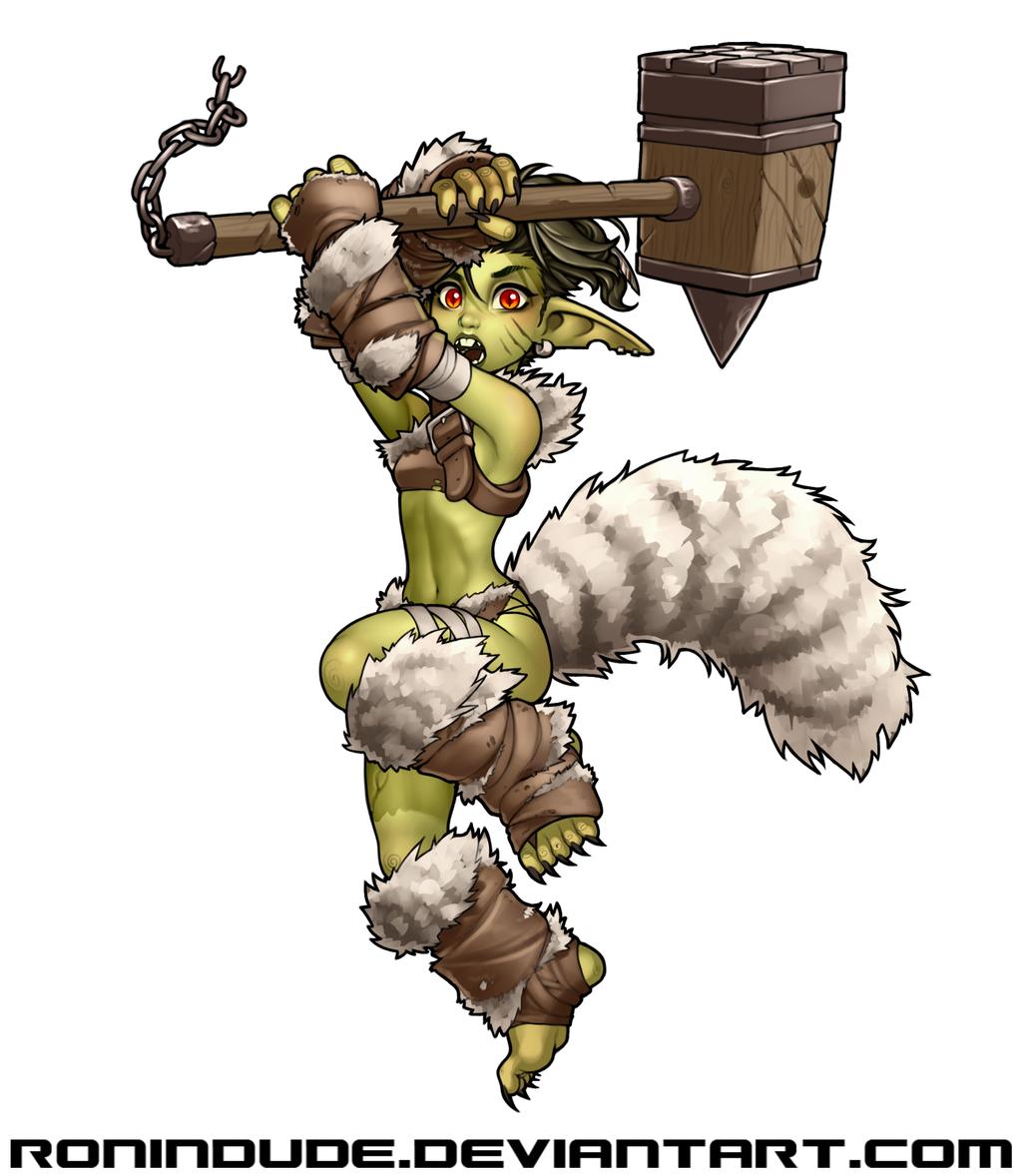 Daily Drawing - Goblin Barbarian 2 by RoninDude