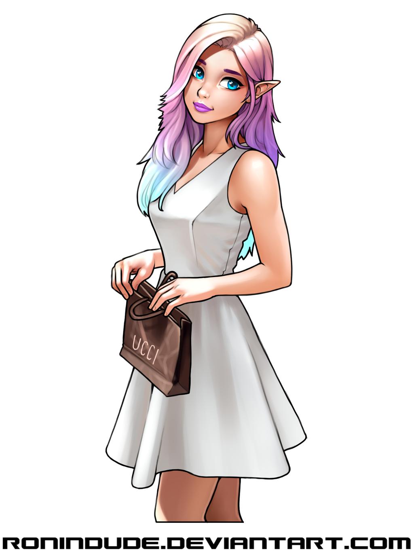 Elf in Sun Dress by RoninDude