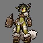 Pixelized Goblin Girl
