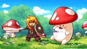 Little Chopper vs Mushroom Dudes