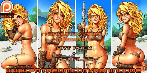 Patreon January 2018 Art Pack!
