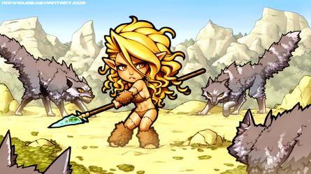 Cave Elf vs Woofs