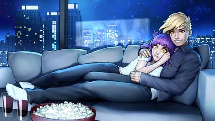 Commission - Movie Night
