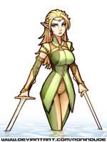 Elf Fighter - Colored Sketch