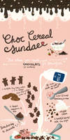 Chocolate Cereal Sundae / recipe card by electrifried