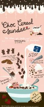 Chocolate Cereal Sundae / recipe card