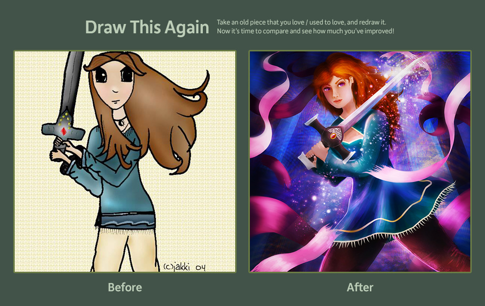 Draw This Again - 1st digital drawing til now! by electrifried