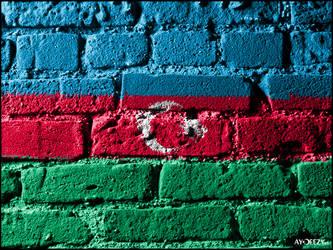 Azerbaijan's flag by AYDeezy