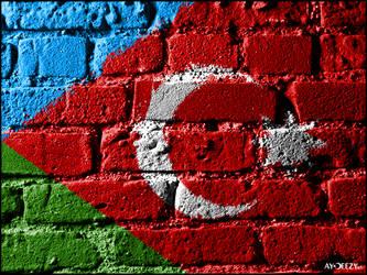Southern Azerbaijan's flag by AYDeezy