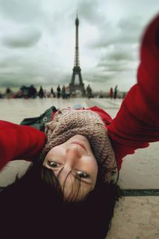 Selfportrait with Eiffel