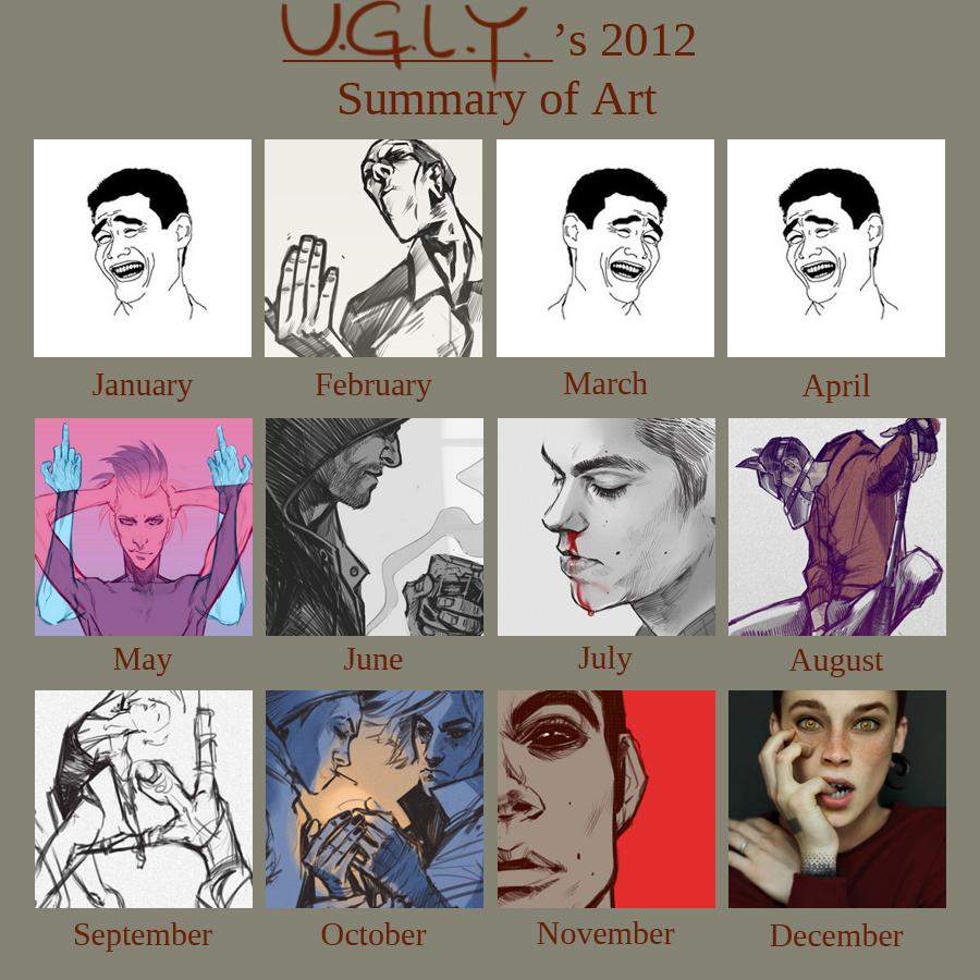 summary of art 2012 by Creature13