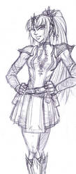 Wizard Alierra sketch 01 by GABB3R