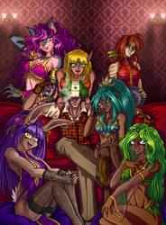 The Velvet Rose Salon girls by GABB3R