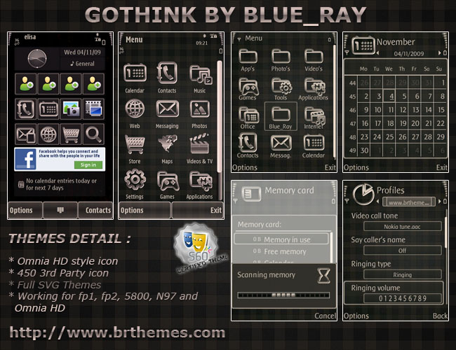 Gothink by Blue_Ray by Brthemes on DeviantArt