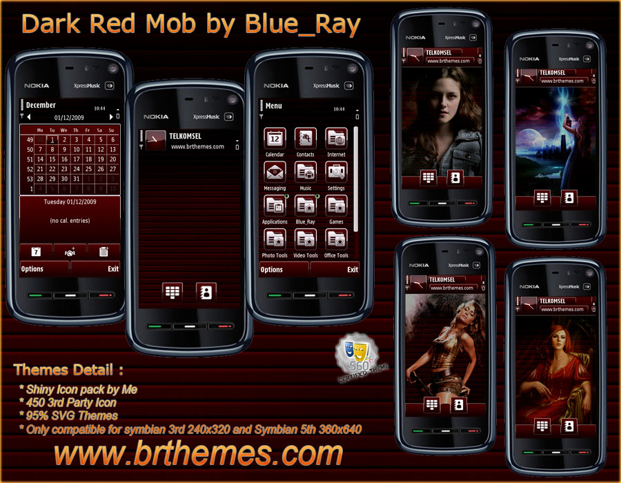 Dark Red Mob by Blue_Ray by Brthemes on DeviantArt