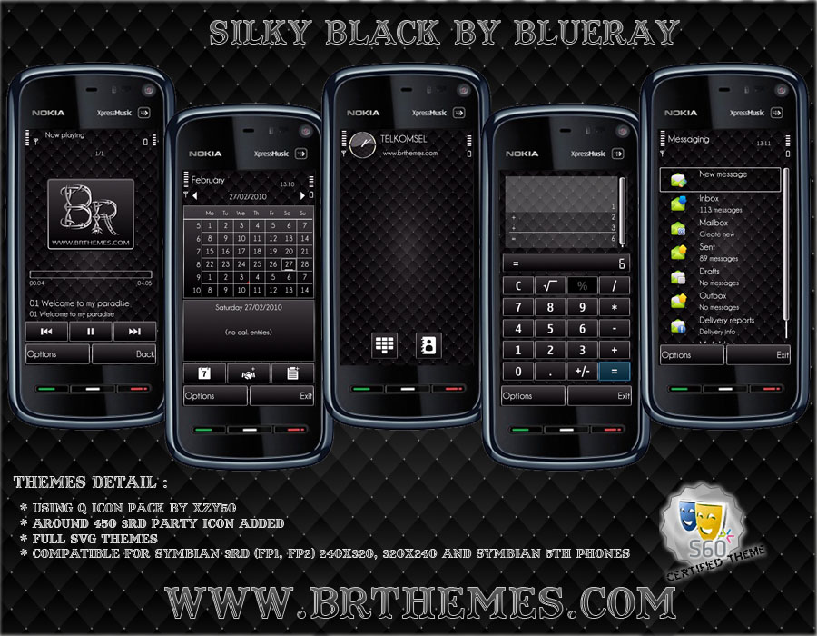 Silky Black by Blue_Ray by Brthemes on DeviantArt