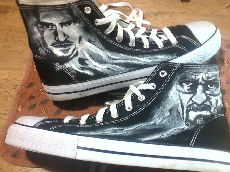 24dd3650488130 Breaking Bad Custom Shoes by Upteepaintings Breaking Bad Custom Shoes by  Upteepaintings
