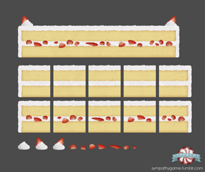 Strawberry Cake Platform Tileset by luxandnox