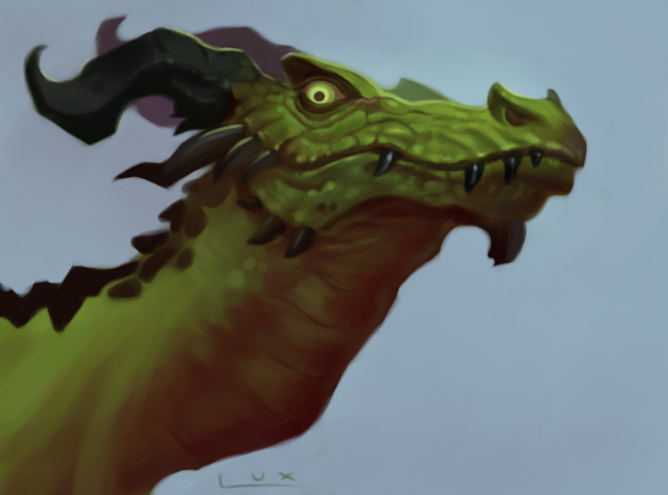 Dragon Study by luxandnox