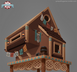 Gingerbread Cabin Concept