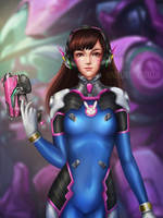 D.va - Overwatch by Nindei