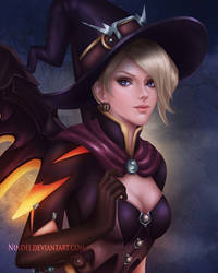 Halloween Mercy by Nindei