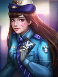 Officer Dva by Nindei