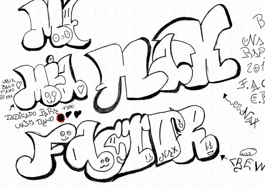Gaffiti De Letras Teamo Para Dibujar | Search Results | Calendar 2015