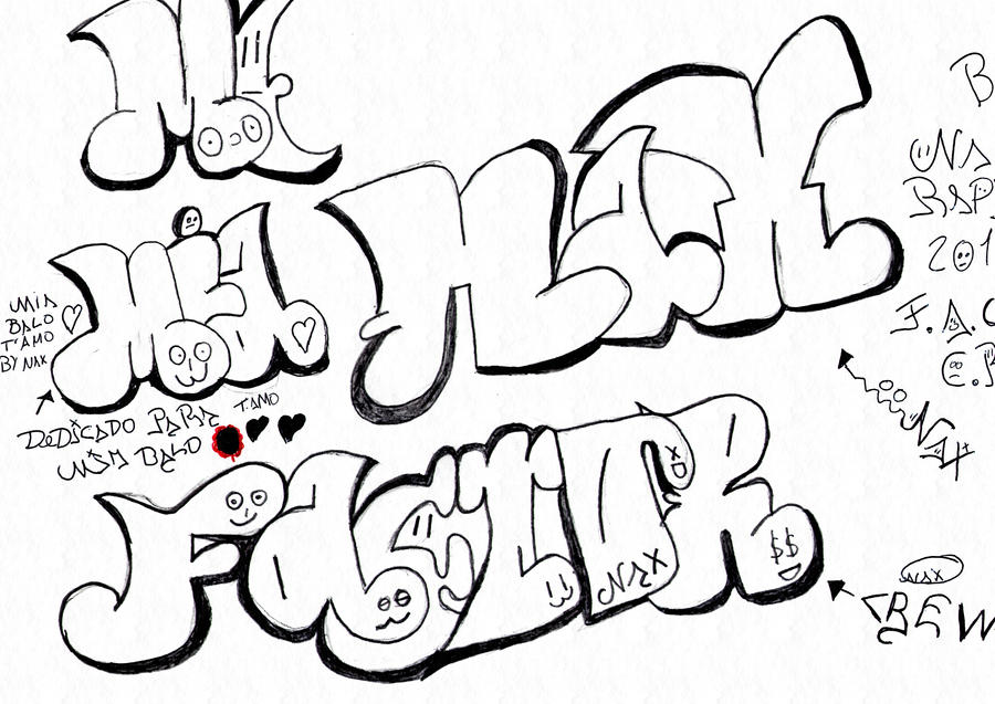 Imagenes De Graffiti De Amor Para Dibujar