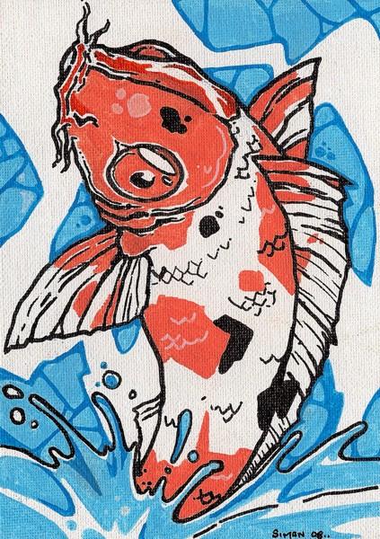 Japanese koi fish by joebananaz on deviantart for Japanese koi art prints