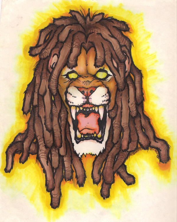 Lion with dreads tattoo drawings - photo#27