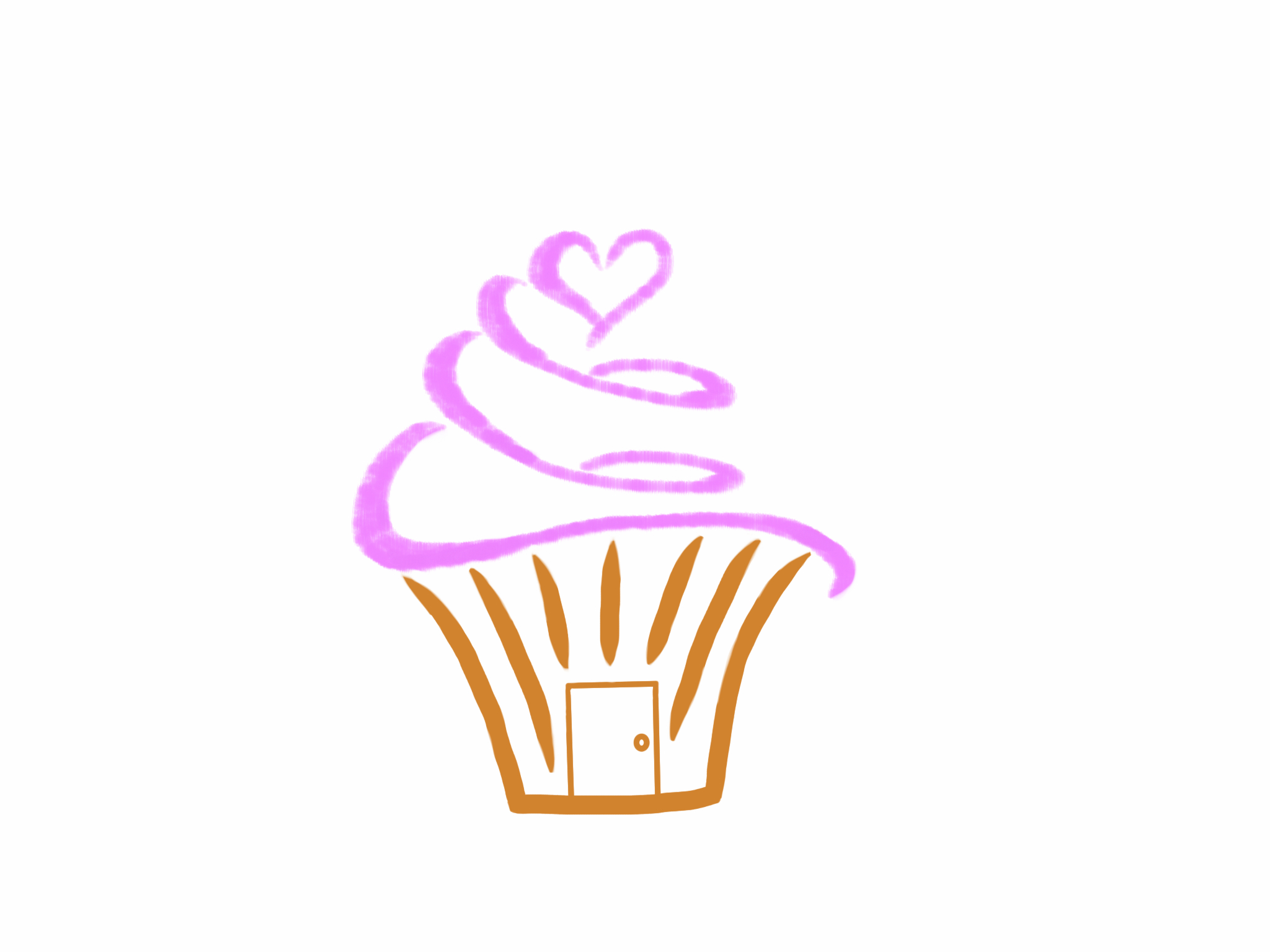heart and home cupcakes logo by davwin on deviantart