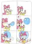 Ami's Head In Bubble Comic