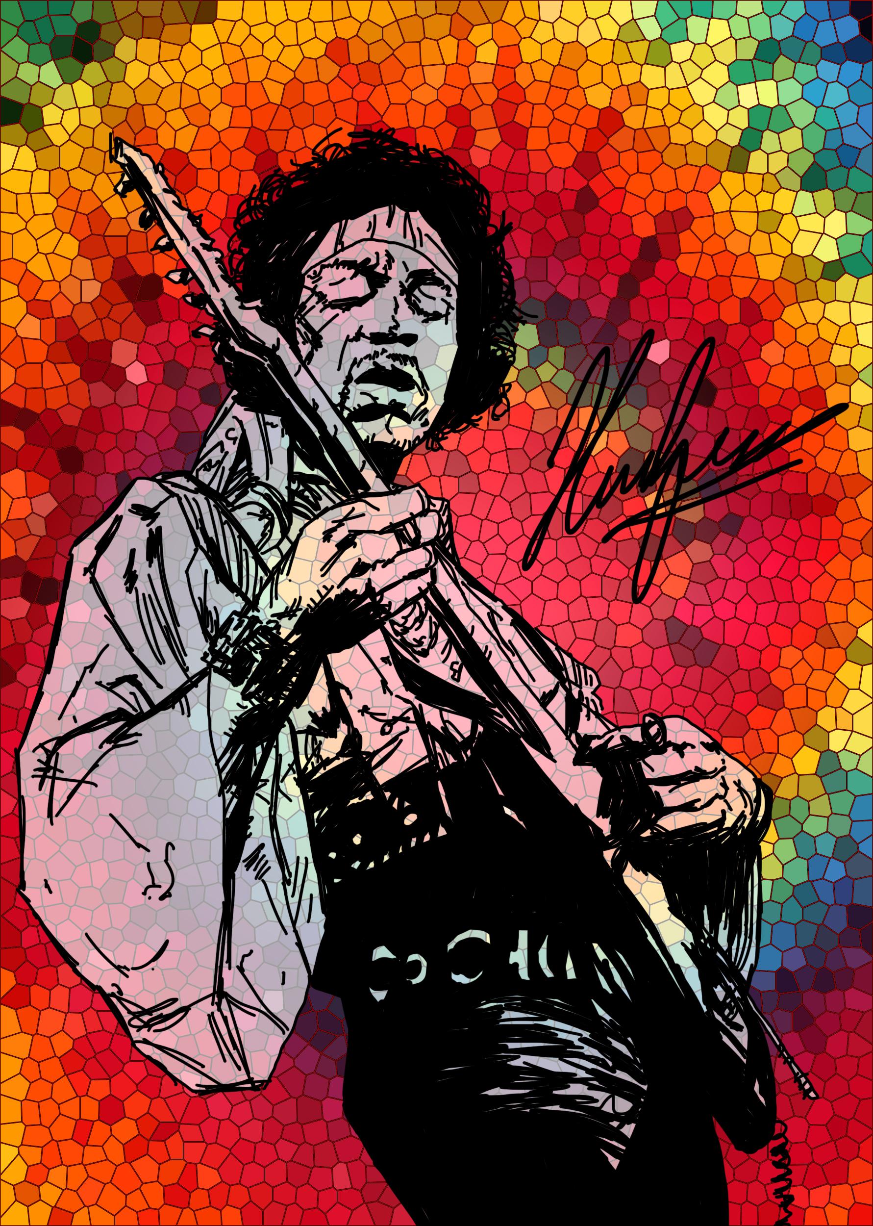 Jimi hendrix stained glass by neoyurin on deviantart - Jimi hendrix wallpaper psychedelic ...