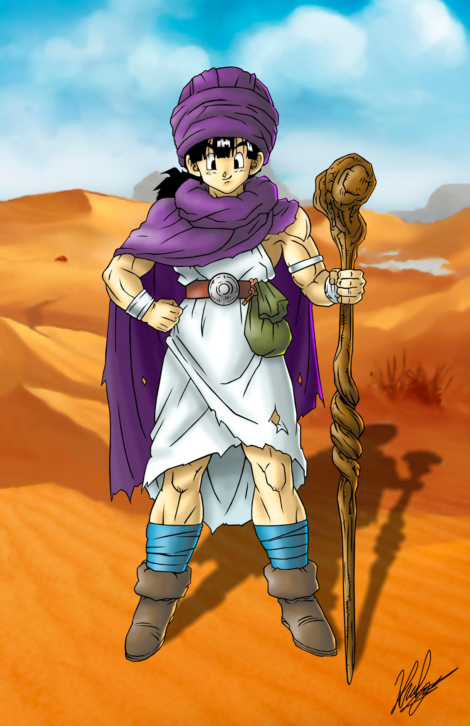 D Line Drawings Quest : Dragon quest v hero by neoyurin on deviantart
