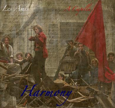 Cover art- Harmony- a Les Amis A Capella fanmix by Ari-Mizuko